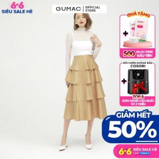 [GIẢM 25K ĐH 250K] Chân váy nữ 4 tầng GUMAC mẫu mới VB598 Chất Liệu Lụa Pháp form xòe rã tầng style trẻ trung thumbnail