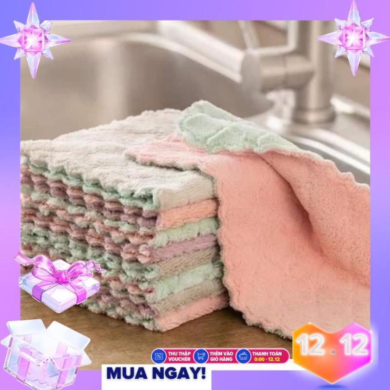 Bộ 20 khăn lau đa năng Sét 20 Khăn lau 2 mặt đa năng mềm mịn xịn xò
