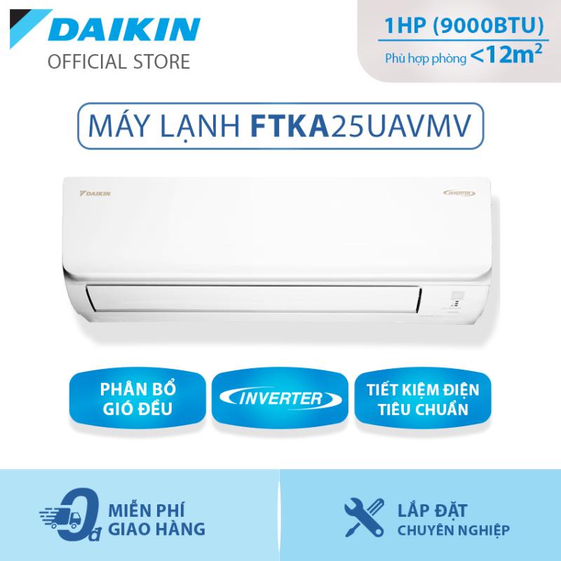 Bảng giá Máy Lạnh Daikin Inverter Tiêu chuẩn FTKA25UAVMV 1HP (9000BTU) - Tiết kiệm điện - Luồng gió Coanda - Độ bền cao - Chống Ăn mòn - Chống ẩm mốc - Làm lạnh nhanh - Hàng chính hãng