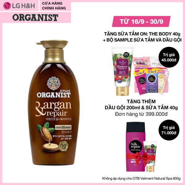 Kem Xả nuôi dưỡng tóc Organist dành cho tóc hư tổn – Tinh dầu Morocco Argan 500ml giá rẻ