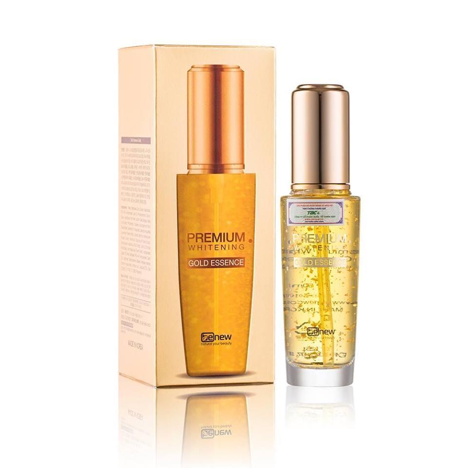Serum vàng trắng da chống lão hóa cao cấp 24k - Benew Premium Whitening Gold Essence 50ml