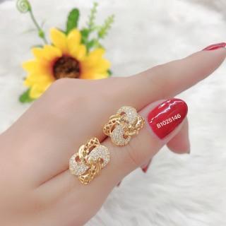 [HCM]Bông tai nữ JK Silver kiểu dáng Hàn Quốc mạ vàng 18K đính kim cương nhân tạo công nghệ xi vàng 4 lớp cao cấp không đen không phai màu không gây dị ứng trang sức nữ cao cấp bong tai nu sang trọng bông tai nữ cá tính U.bong13 thumbnail