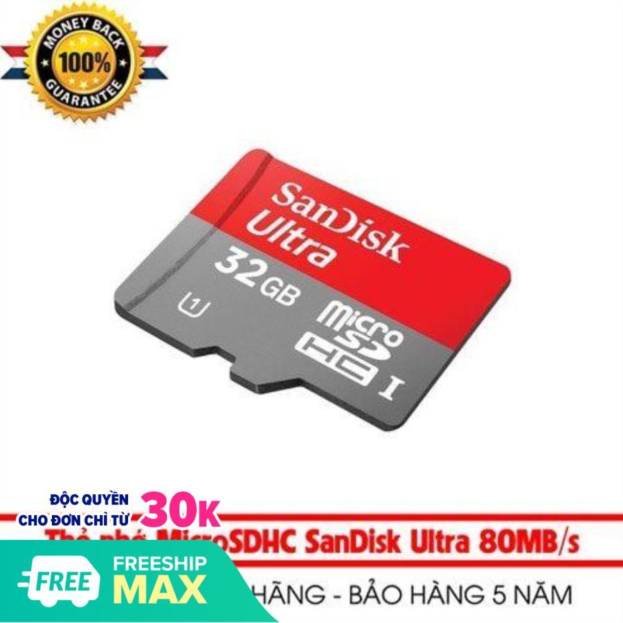 THẺ NHỚ 32GB SANDISK Tốc Độ 100MB/S chuyên dụng cho camera, điện thoại, máy ảnh