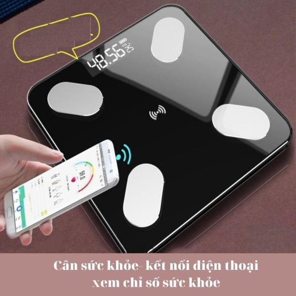 Cân Sức Khỏe Điện Tử Thông Minh - Cân kết nối bluetooth điện thoại phân tích đo lường cân nặng và lượng mỡ trên cơ thể có nhiều màu