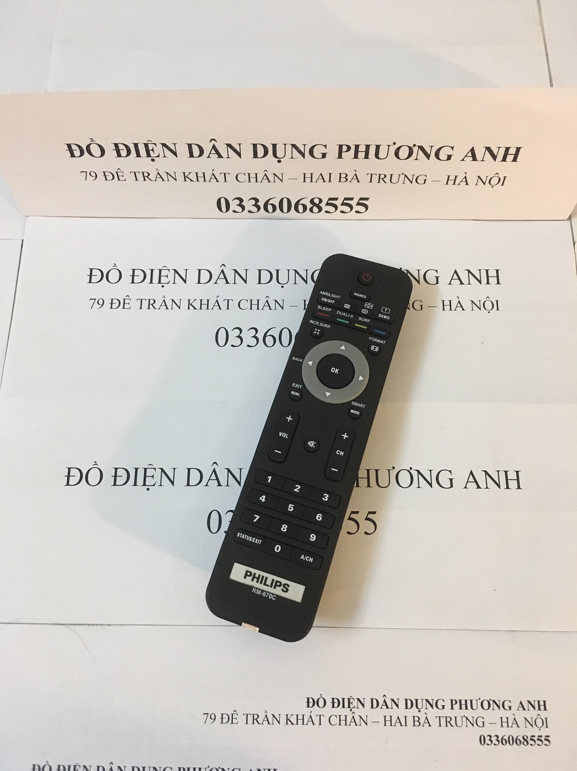 Bảng giá ĐIỀU KHIỂN PHILIPS RM-670C CHO TẤT CẢ SMART TV, LCD/LED CỦA PHILIPS