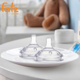 Núm ty cổ rộng silicon Fatz Baby size M&L, sở hữu thiết kế hiện đại với van khí kép vừa chống sặc hiệu quả vừa ngăn không khí tràn vào bình và dạ dày bé khi bú thumbnail