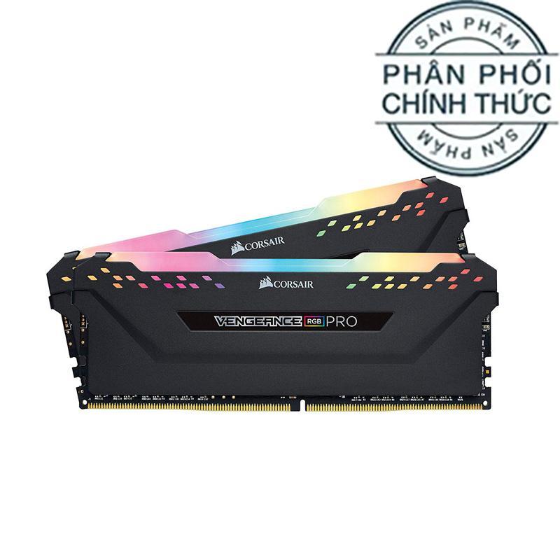 Ram PC Corsair Vengeance RGB Pro DDR4 KIT 32GB (2x16GB) Bus 3200Mhz C16 CMW32GX4M2E3200C16 - Hãng phân phối chính thức