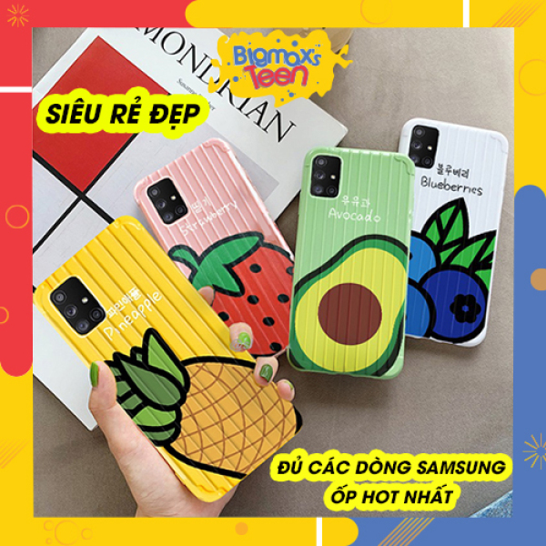 Giá Ốp lưng Samsung A71 A51 A70 A6 PLUS A9 2018 A10 A7 2018 A50 A30S A50S A30S A20 S10 PLUS - ốp samsung vali hoa quả mùa hè hót nhất 2020 - Ốp lưng samsung A21S samsung note 20