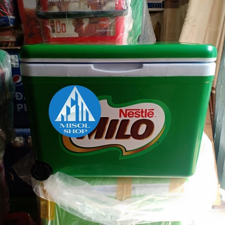 Thùng Đá 35l Milo Giữ Nhiệt Có Bánh Xe Tay Kéo - Shop Misol
