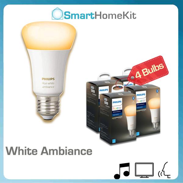 Combo 4 Bóng Philips Hue White Ambiance E27 Bluetooth - giảm 10%