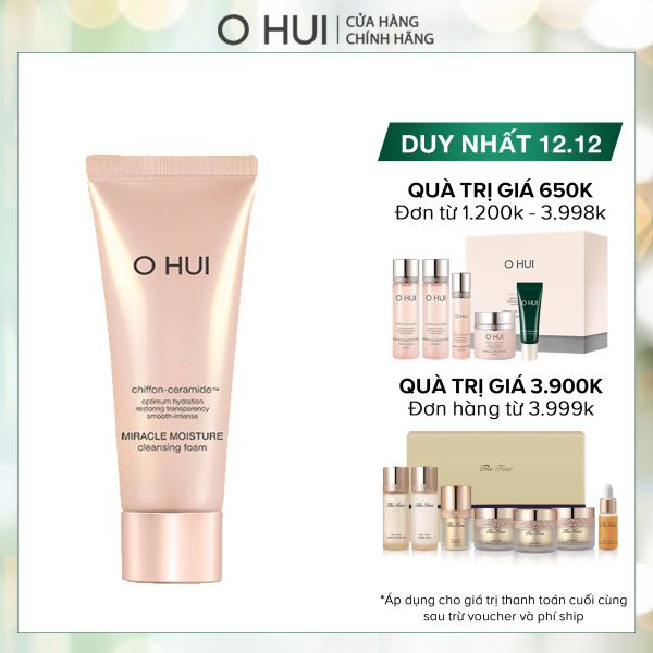 [Quà tặng không bán] Sữa rửa mặt Ohui Miracle Moisture Cleansing Foam 80ml nhập khẩu