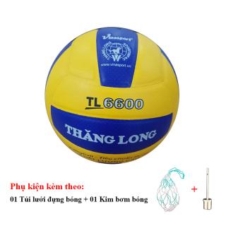 Bóng Chuyền Da Thăng Long 6600 + Túi Lưới Đựng Bóng + Kim Bơm Bóng thumbnail