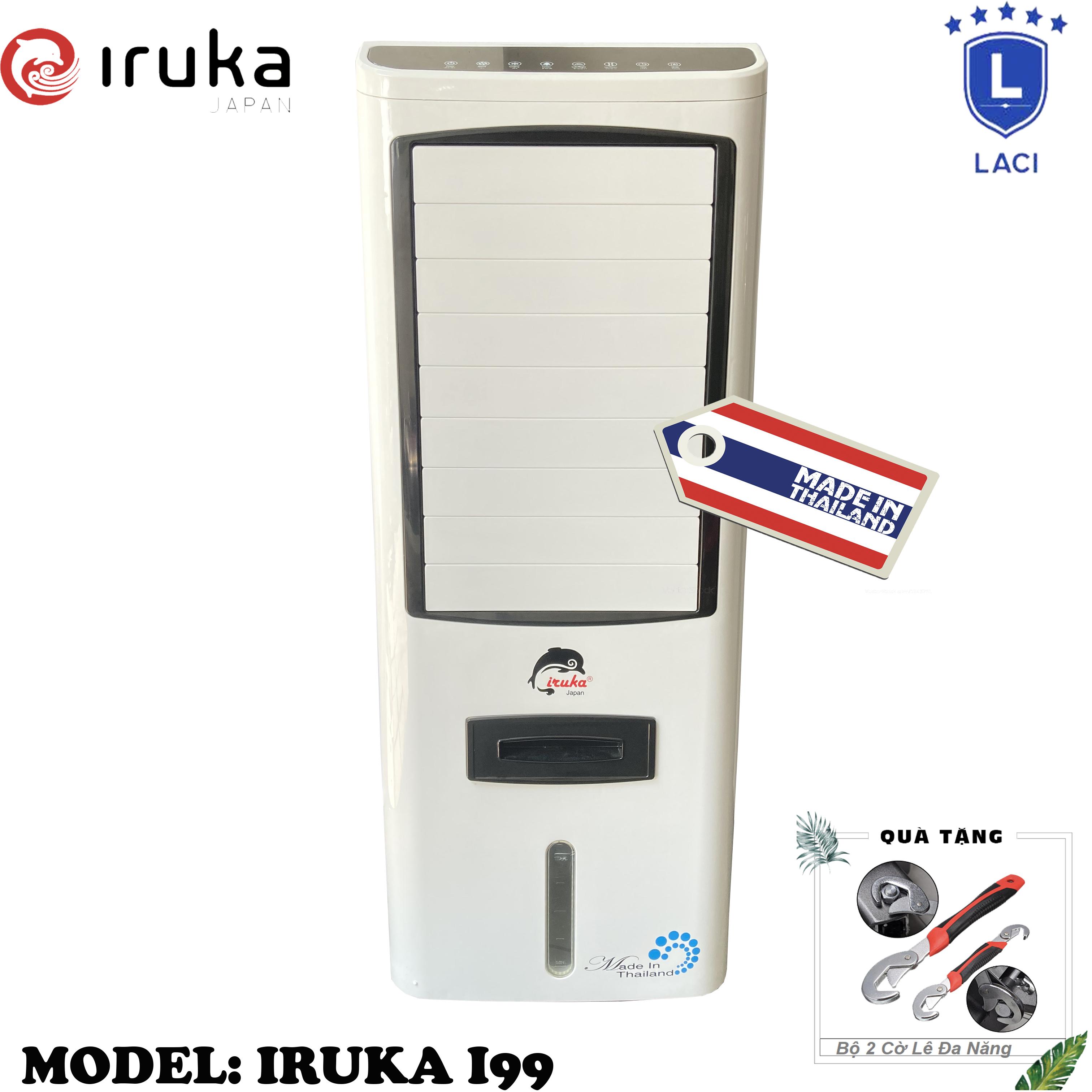 Quạt hơi nước làm lạnh không khí Iruka I99 Made In Thái Lan | Công suất 200W | Màn hình cảm ứng có remote điều khiển | BH 12 Tháng Chính Hãng | Tặng Bộ 2 Cờ Lê Đa Năng