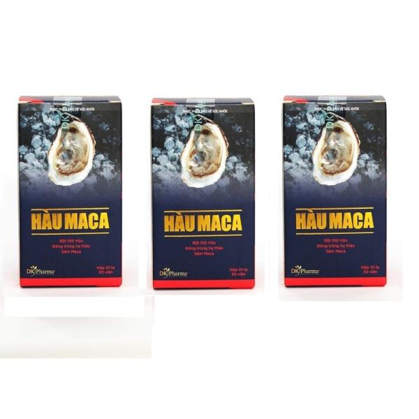 Bộ 3 hộp Viên Uống Tăng Cường Sinh Lý Nam Giới HÀU MACA 30 viên x 3