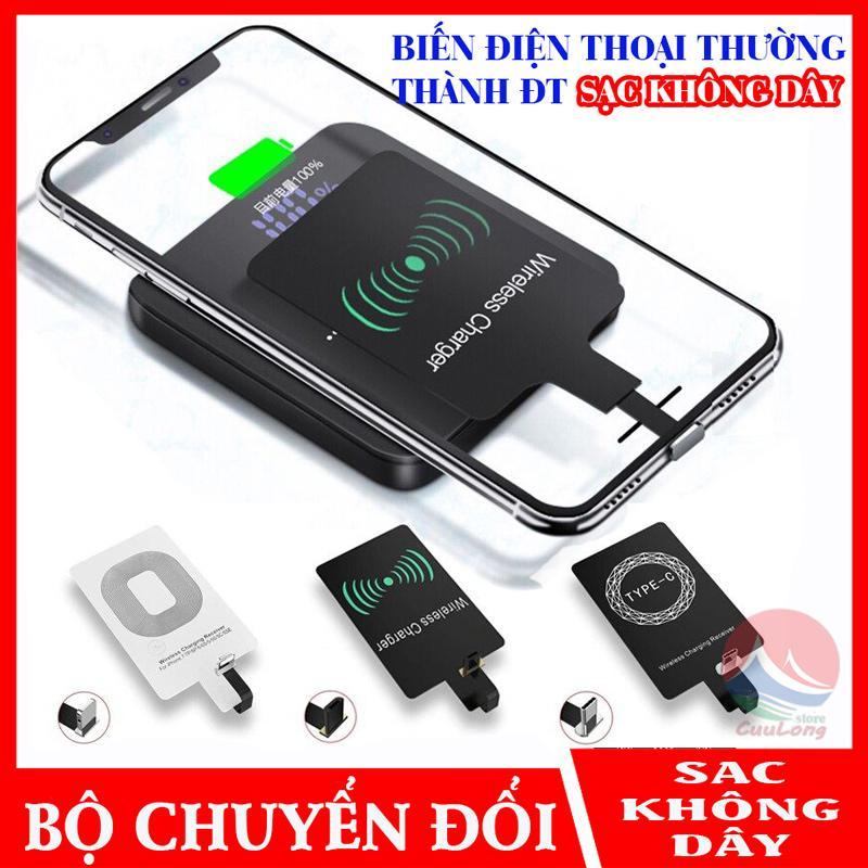 Giá Miếng Sạc Không Dây Chuẩn Qi, Hỗ Trợ Sạc Nhanh, miếng dán sạc không dây, mạch sạc không dây, chip sạc không dây, chip sạc không dây cho iPhone Samsung Android, chip sạc không dây đầu Lightning Type c Micro USB, bo mạch sạc nhanh không dây CuuLongS
