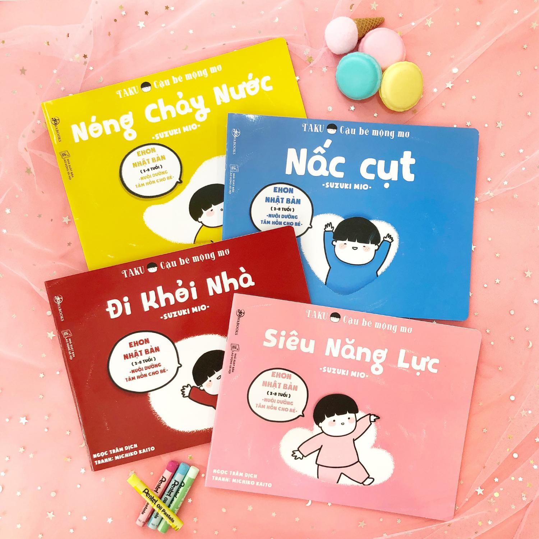 Mua Sách Trẻ Em - 4 Cuốn Sách Taku - Cậu Bé Mộng Mơ - Ehon Nhật Bản Dành Cho Bé Từ 2 - 8 Tuổi