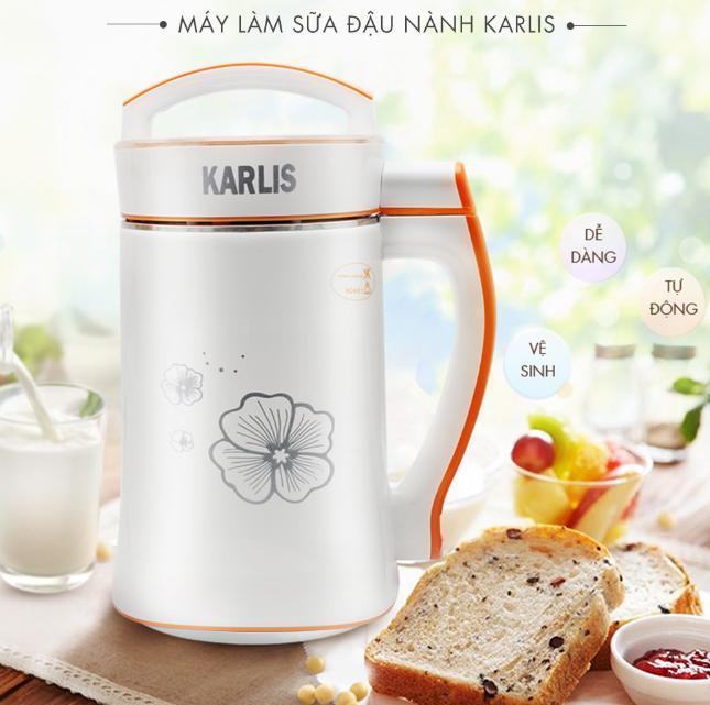 Máy làm sữa đậu nành đa năng Karlis- Làm sữa, làm cháo em bé- xay nhiễn và tự nấu