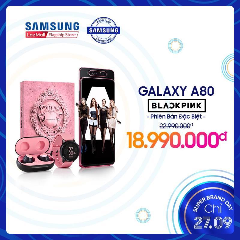 Samsung Galaxy A80 BLACKPINK - Tặng Galaxy Bud và Galaxy Watch Active