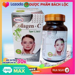 Viên uống Collagen 1600 mg , bổ sung Vitamin A E C- giảm thâm nám tàn nhang, ngừa nếp nhăn, chống lão hóa - Trả Lại Nét Thanh Xuân Cho BạnHộp 60 viên thumbnail