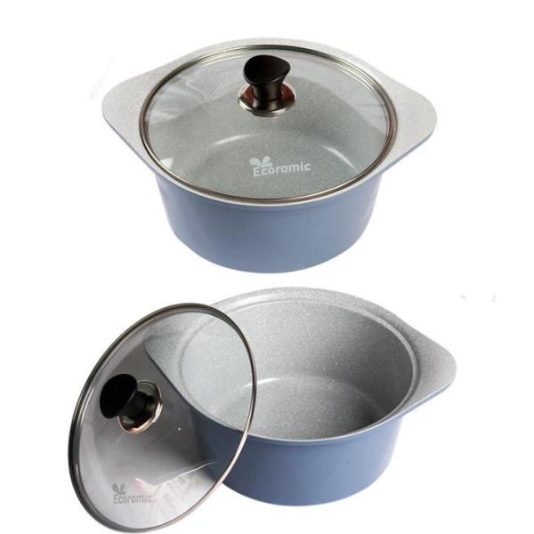 Ecoramic-Nồi đúc tráng mem 20cm - Thương hiệu Hàn Quốc