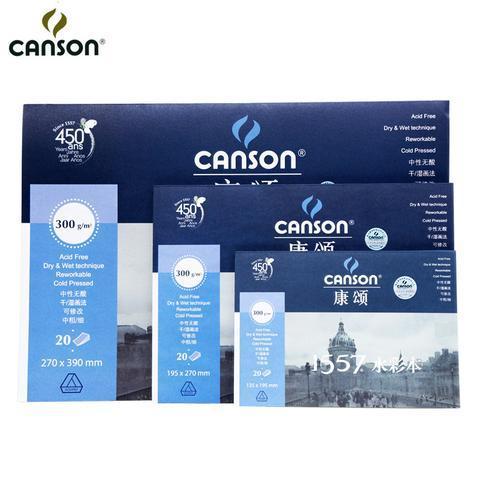 Mua TẬP GIẤY VẼ MÀU NƯỚC CANSON 300G/20 TỜ