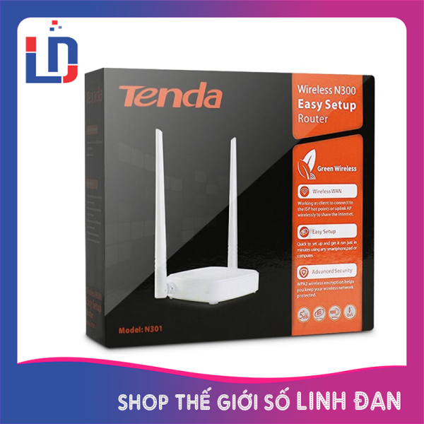 Bảng giá Bộ Phát Sóng Wifi Tenda N301 chuẩn N tốc độ 300Mbps - 2 anten Phong Vũ