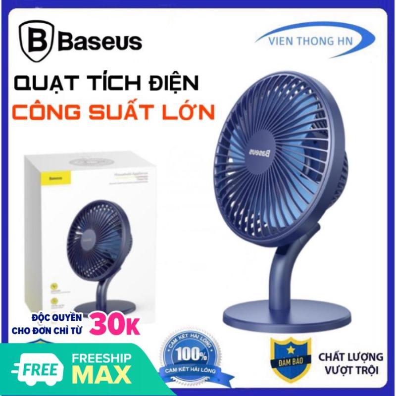 Quạt tích điện mini để bàn Baseus Ocean Fan 3 sạc pin 2000mAh 4 mức tốc độ - QUẠT MINI DU LỊCH PHƯỢT