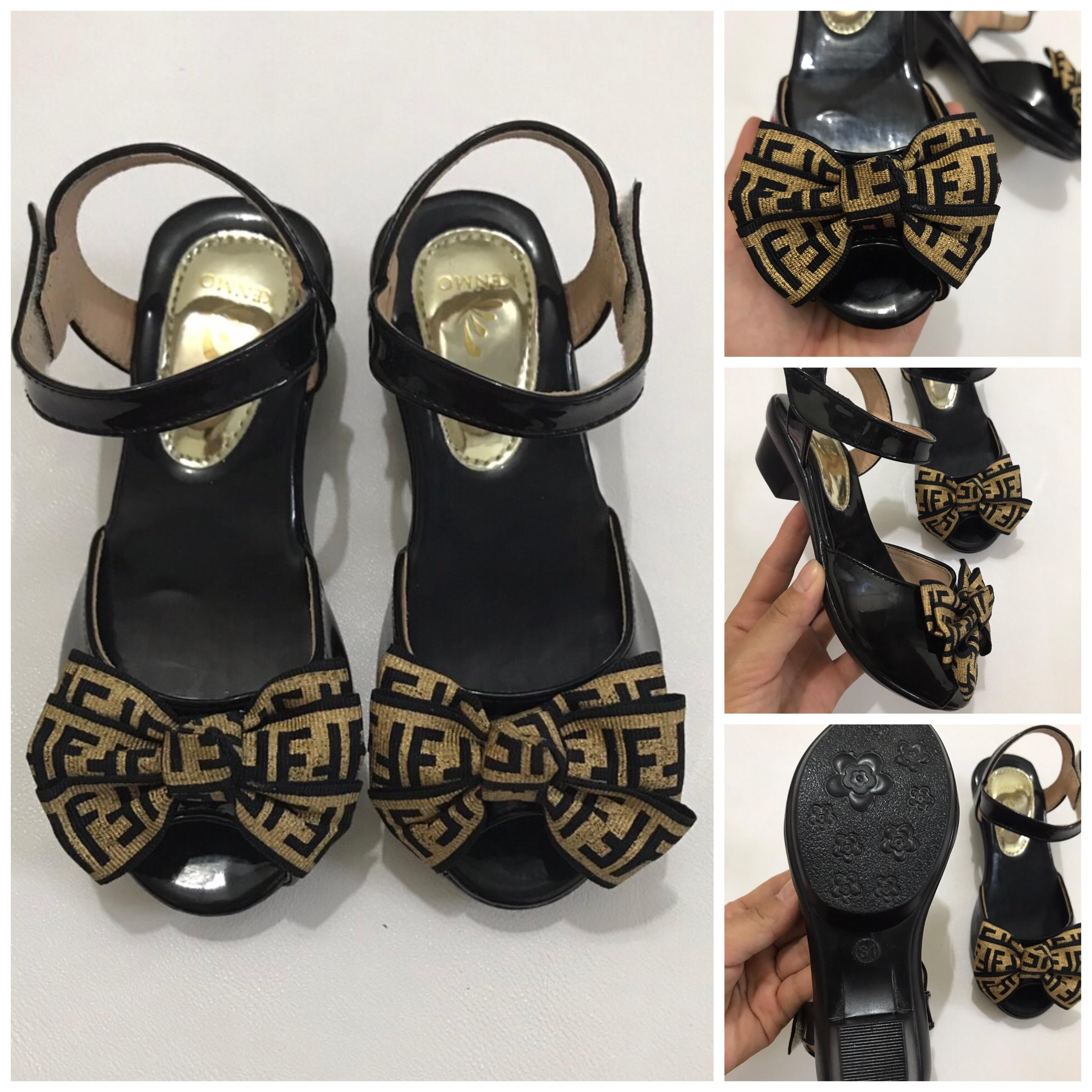 Giá bán Sandal cao gót 3cm bé gái FF