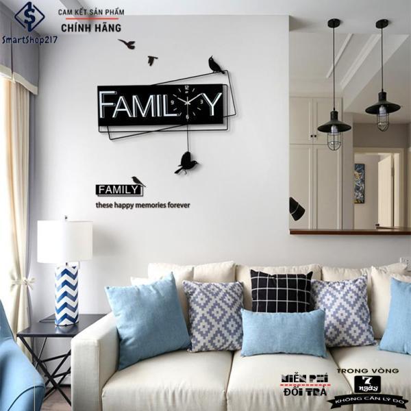 Nơi bán [DH-006] Đồng Hồ Treo Tường Family (Tặng Decal trang trí + Bộ Kim dự phòng + Đinh treo chống hỏng tường)