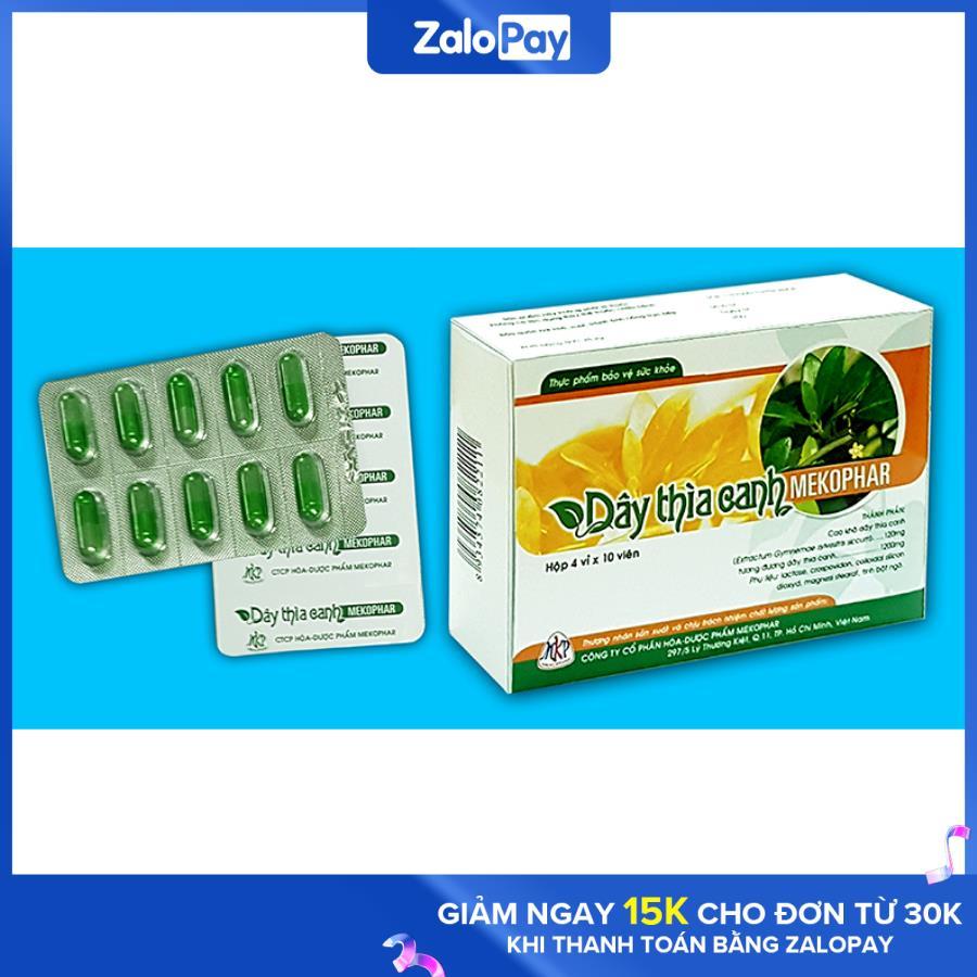 [HCM]Dây thìa canh Mekophar Hộp 40 viên - Ổn định đường huyết - giảm tiểu đường - thực phẩm hạ tiểu đường - đường huyết