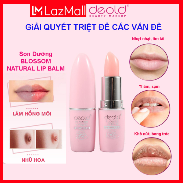 Son Dưỡng Chống Thâm Làm Hồng Môi Deold Natural Blossom Lip Balm 3.3g