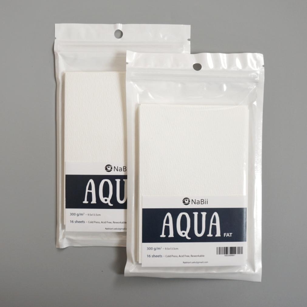 Mua COMBO 02 Giấy vẽ Màu Nước A6 Nabii Aqua Fat 300gsm (16 tờ)