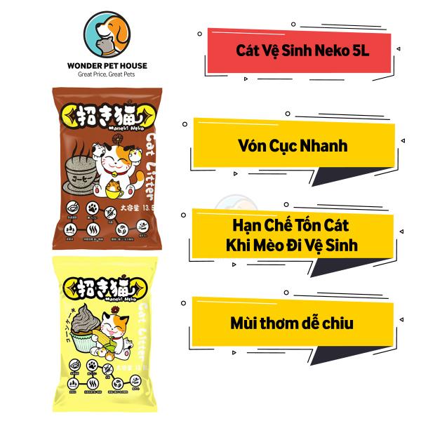 [CÁT VỆ SINH MÈO] Neko Cho Mèo - Vón Cục Và Khử Mùi Tốt -  Cát Cho Mèo Đi Vệ Sinh