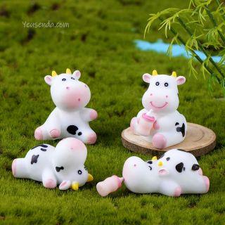 Phụ kiện trang trí tiểu cảnh Bò sữa đáng iu thumbnail