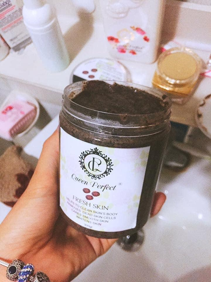 Tẩy tế bào chết Queen Perfect- Cafe Face & Body