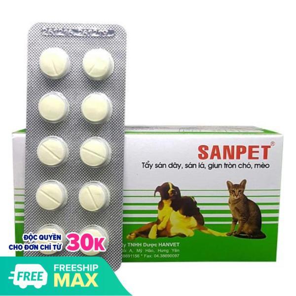 HN- 2 viên XỔ GIUN SANPET -( 303) tẩy giun chó / tẩy sán chó / tẩy giun chó mèo / xổ giun chó mèo / so lai cho /-HP10522TC