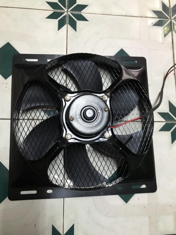 Quạt tản nhiệt dàn nóng điều hòa ô tô độ chế lồng sắt phù hợp với các dòng độ chế