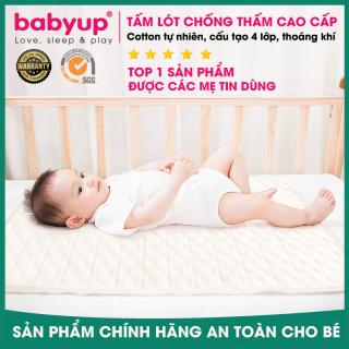 Tấm lót chống thấm cho bé Organic Cotton 100% tự nhiên - Thoáng khí, siêu thấm hút, có thể giặt. Miếng lót chống thấm cho bé sơ sinh. Lót chống thấm cho bé thumbnail
