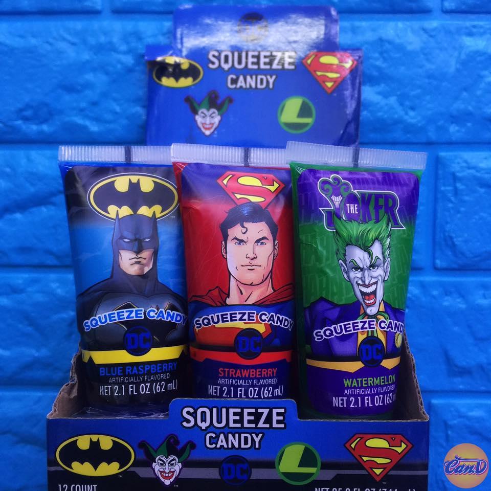 Kẹo tuýp kem đánh răng DC Comics
