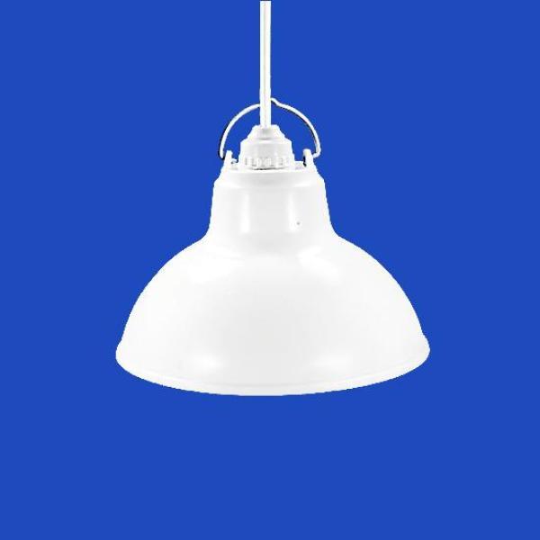 Bộ Chao đèn Chụp đèn Chóa đèn nhựa trắng ngoài trời 30cm và đui E27 Kín nước