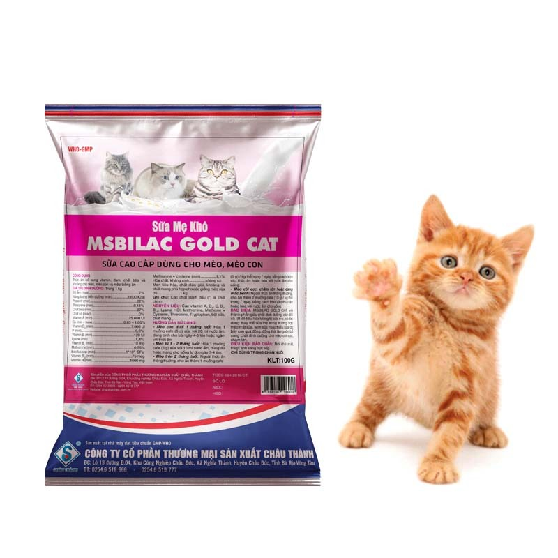 Sữa cho mèo cao cấp Msbilac God Cat 100g