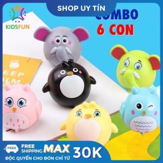COMBO 6 CON, bộ sưu tập động vật chạy đà siêu dễ thương chất liệu nhựa ABS cao cấp cho bé từ 6 tháng tuổi trở lên vui chơi thư giãn thumbnail