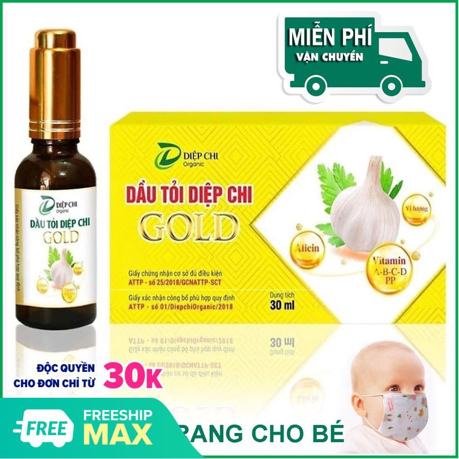 Tinh dầu tỏi Diệp Chi Gold giảm các triệu chứng ho, đờm, tăng đề kháng miễn dịch 30ml