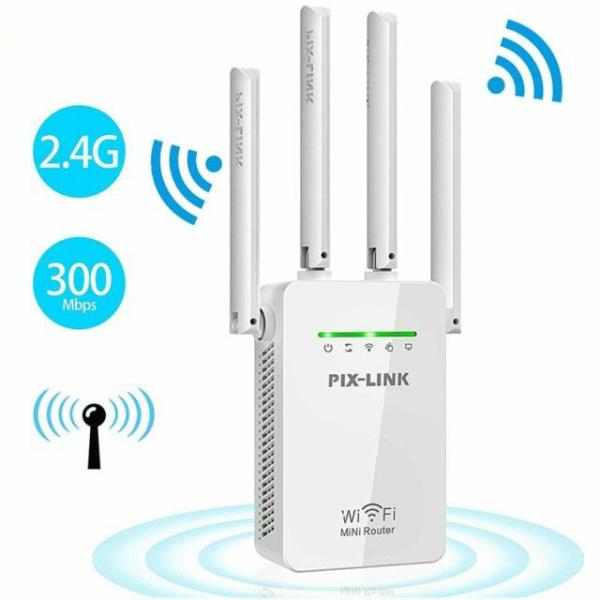 Bộ kích sóng wifi 4 ăng ten Pix-Link LV-WR09 - Tốc độ 300Mbps siêu nhanh
