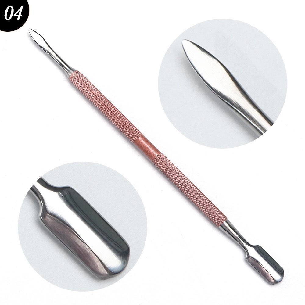 Cây sủi da, đẩy da inox, dung cụ nail cao cấp (2 đầu đa dụng, tiện lợi)