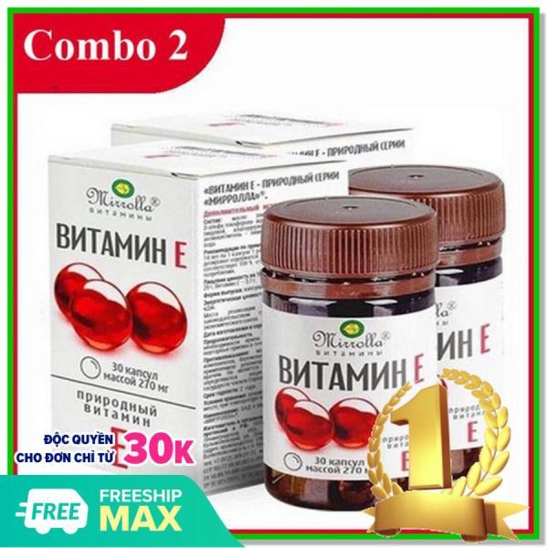 Vitamin E đỏ [COMBO 2 HỘP] hộp 30 viên Vitamin mờ nám sáng da dưỡng da tốt