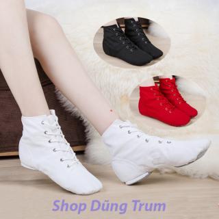 [KHUYẾN MẠI HÈ] Giày múa bale cao cổ, giày bale nhảy hiện đại vải kaki da lộn cực bền thumbnail