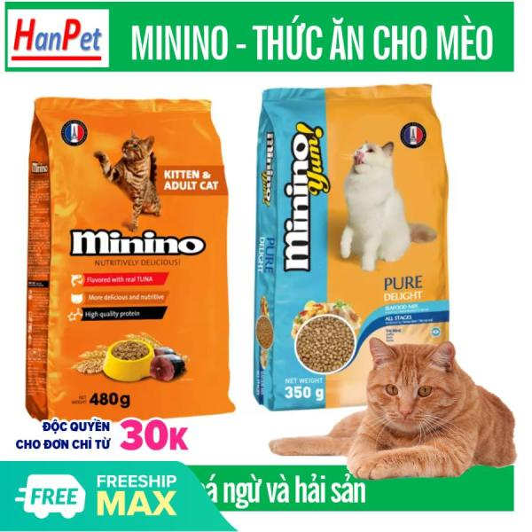 HM HP-(Gói 1,5kg -1,3kg ) MININO thức ăn viên cao cấp cho mèo, dùng cho mèo mọi lứa tuổi thức ăn mèo dạng hạt khô