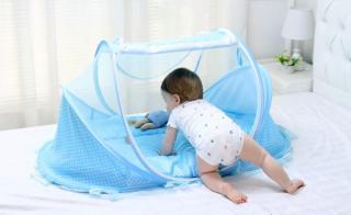 Bé Khó Ngủ, Màn Đẹp, Bộ Màn Nệm Có Nhạc Cho Bé Ngủ Ngon, Có Màn Lưới Thoáng Mát Chống Muỗi Đốt Trẻ. thumbnail
