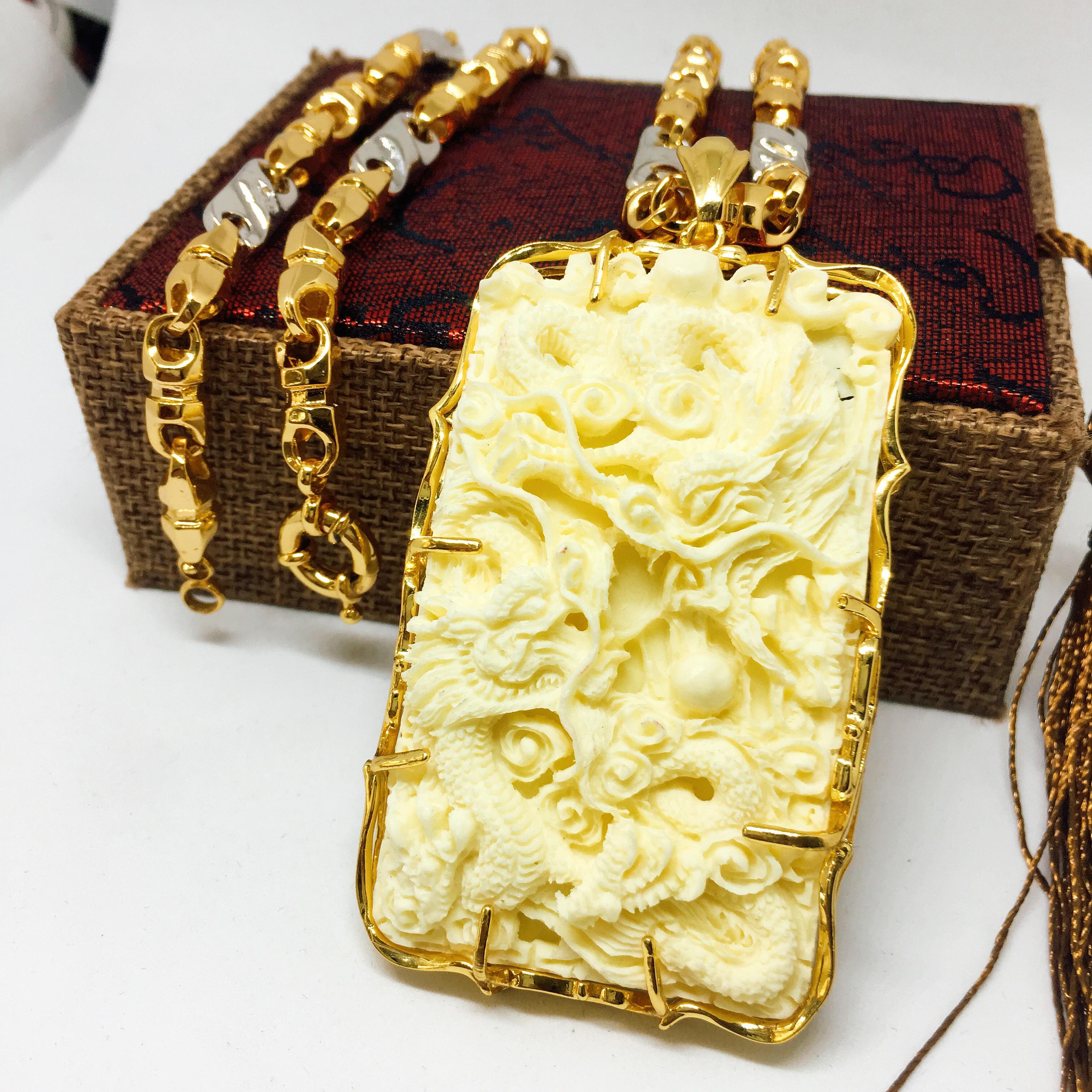 Dây Chuyền Nam Vip Bạc Thái Mạ Vàng, Vòng Cổ Nam Phong Cách | Jewelry Bảo Tín LNMS06 (dây và mặt) ( Màu Vàng)